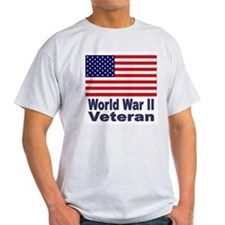 World War II Veteran (Front) Ash Grey T-Shirt