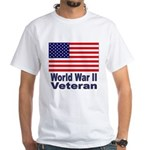 World War II Veteran (Front) White T-Shirt