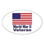 World War II Veteran Oval Sticker