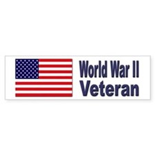 World War II Veteran Bumper Bumper Sticker