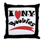 New York Boobies Throw Pillow