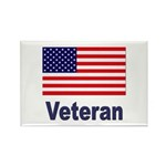 American Flag Veteran Rectangle Magnet (10 pack)