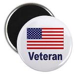 American Flag Veteran Magnet