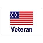 American Flag Veteran Large Poster