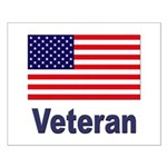 American Flag Veteran Small Poster