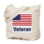American Flag Veteran Tote Bag