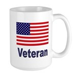 American Flag Veteran Large Mug