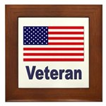 American Flag Veteran Framed Tile