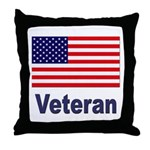 American Flag Veteran Throw Pillow