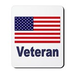 American Flag Veteran Mousepad