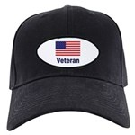American Flag Veteran Black Cap