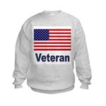 American Flag Veteran (Front) Kids Sweatshirt