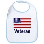 American Flag Veteran Bib