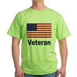 American Flag Veteran Green T-Shirt