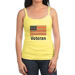 American Flag Veteran Jr. Spaghetti Tank