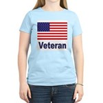 American Flag Veteran Women's Pink T-Shirt