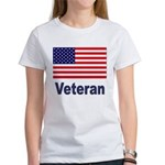 American Flag Veteran (Front) Women's T-Shirt