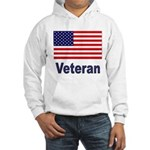 American Flag Veteran (Front) Hooded Sweatshirt