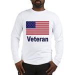 American Flag Veteran (Front) Long Sleeve T-Shirt