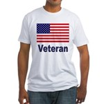 American Flag Veteran Fitted T-Shirt