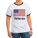 American Flag Veteran Ringer T