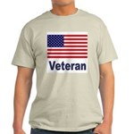 American Flag Veteran Ash Grey T-Shirt