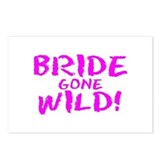 Bride Gone Wild Postcards (Package of 8)