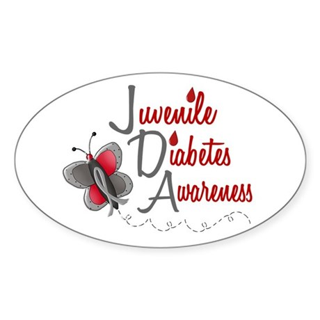 Juvenile diabetes awareness 1 butterfly 2 bumper stickers for Stickers juveniles