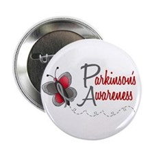 "Parkinson's Awareness 1 Butterfly 2 2.25"" Button ("