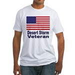 Desert Storm Veteran (Front) Fitted T-Shirt