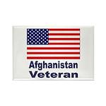 Afghanistan Veteran Rectangle Magnet (10 pack)