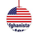 Afghanistan Veteran Ornament (Round)