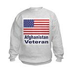 Afghanistan Veteran (Front) Kids Sweatshirt