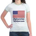 Afghanistan Veteran (Front) Jr. Ringer T-Shirt