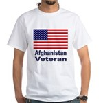 Afghanistan Veteran (Front) White T-Shirt