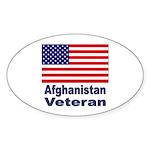 Afghanistan Veteran Oval Sticker