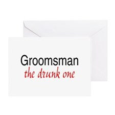 Groomsman (The Drunk One) Greeting Card