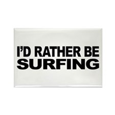 I'd Rather Be Surfing Rectangle Magnet (10 pack)