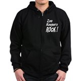 Zoo Keepers Rock ! Zip Hoodie
