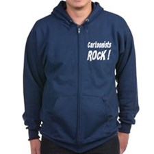Cartoonists Rock ! Zip Hoodie