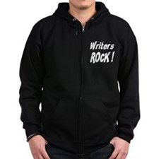 Writers Rock ! Zip Hoodie