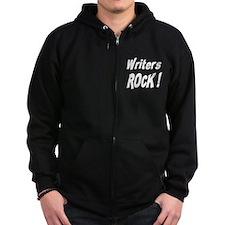 Writers Rock ! Zip Hoodie