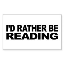 I'd Rather Be Reading Rectangle Sticker 50 pk)