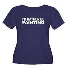 I'd Rather Be Painting Women's Plus Size Scoop Nec