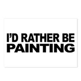 I'd Rather Be Painting Postcards (Package of 8)
