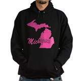 Pink Michigan Hoodie