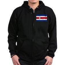 Costa Rica Flag Zip Hoody