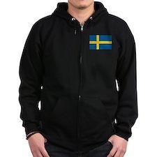 Sweden Flag Zip Hoodie
