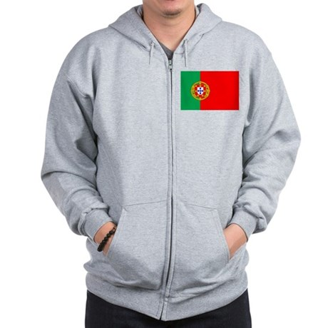 Portuguese Flag of Portugal Zip Hoodie