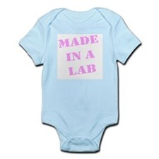 Made in a Lab IVF baby creeper (Pink)